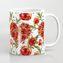 Poppy Heart pattern Coffee Mug