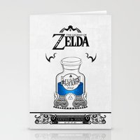 majora Stationery Cards featuring Zelda legend - Blue potion  by Art & Be