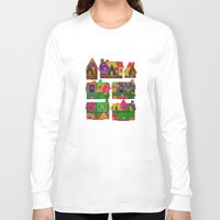 merry christmas Long Sleeve T-shirts featuring Merry Christmas! by Klara Acel