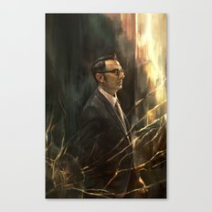 The Abyss Gazes Back Canvas Print