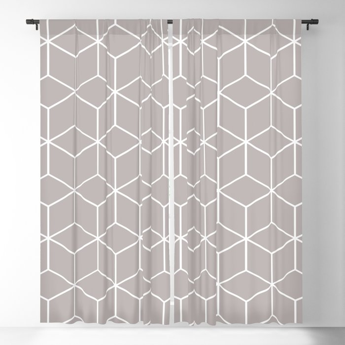 Cube Geometric 03 Grey Blackout Curtain
