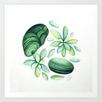 malachite Art Prints featuring Malachite by Megan Leitschuh