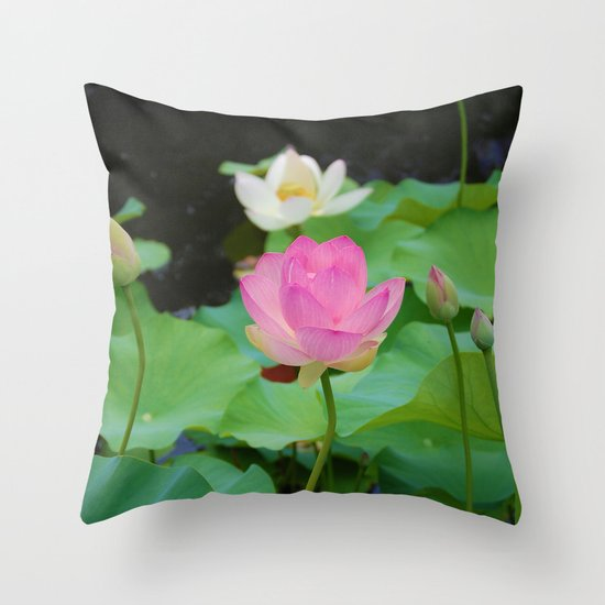Lotus Blossom Flower 25 Throw Pillow