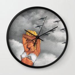 War L'Amour Wall Clock