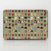 superheroes iPad Cases featuring SuperHeroes by Luca Giobbe