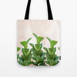 Dreaming candy with green rubber trees Tote Bag