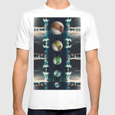 Rockets and Space and Stuff White Mens Fitted Tee MEDIUM