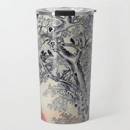 12,000pixel-500dpi - Kawanabe Kyosai - Flock Of Crows At Dawn - Digital Remastered Edition Travel Mug