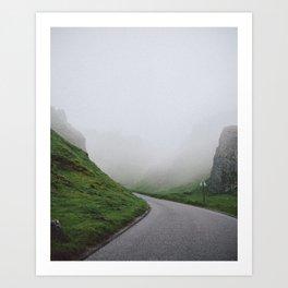 Winnats Pass Fog Art Print