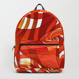That's How I Whirl (orange) Backpack