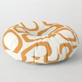 Mid Century Modern Shapes 1970s Orange #society6 #buyart  Floor Pillow