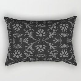 Thistles on Black Rectangular Pillow