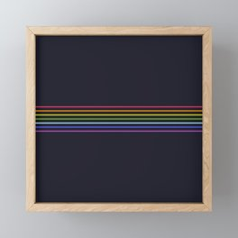 Fine Rainbow Colored Retro Lines Framed Mini Art Print