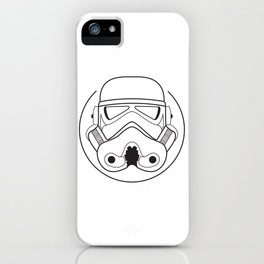 Stormtrooper from Galactic Empire. iPhone Case