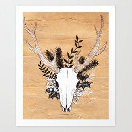 Hunter's Mask Art Print