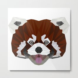 Red Panda with Tongue Out Metal Print