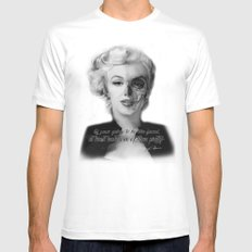 Two Face. Marilyn Quote MEDIUM White Mens Fitted Tee