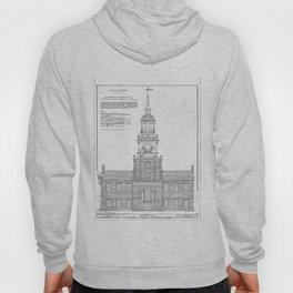 Independence Hall Blueprint Schematics Hoody
