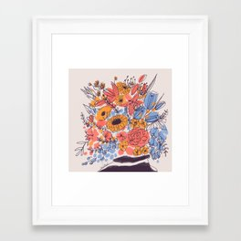 February Florals Framed Art Print