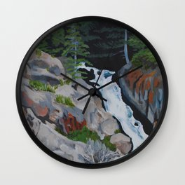Waterfall South of Anchorage Wall Clock