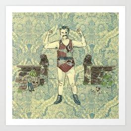 Rustic hero Art Print