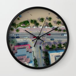 beach house street Wall Clock