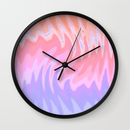 ZigZag Sunset Wall Clock