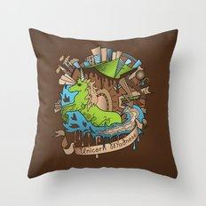 UNICORN MADNESS Throw Pillow