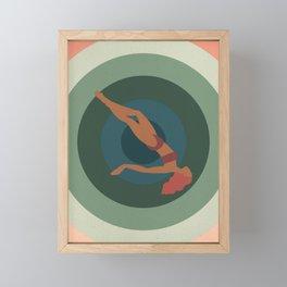 "Retro Vertigo Saul Bass Style Spiral with Woman, Entitled ""Tumble Weed"" Framed Mini Art Print"