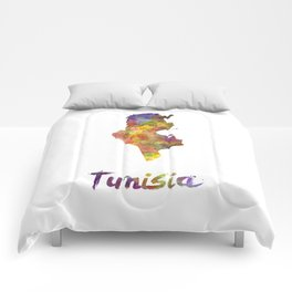 Tunisia in watercolor Comforters