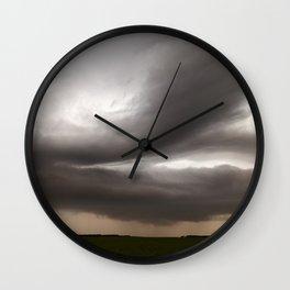 Shelf Clouds Wall Clock