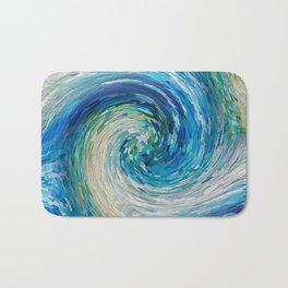 Wave to Van Gogh III re-make seamless texture Bath Mat