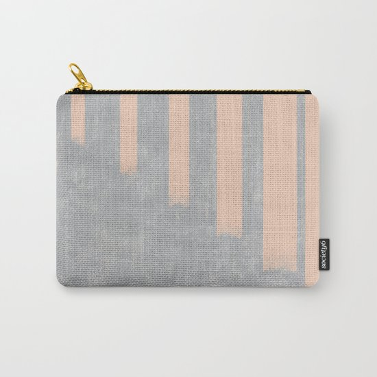 Blush stripes on concrete Carry-All Pouch