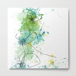 Green Botanica Metal Print
