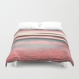 Sunset Passion//Foggy Danube Duvet Cover