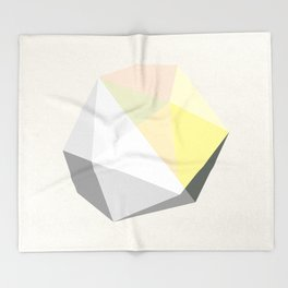 GEM – modern polygram illustration Throw Blanket