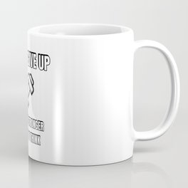 Never give up - you are stronger than you think - fitness gym workout motivation dumbbell Coffee Mug