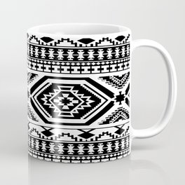 Aztec Geometric Print - Black Coffee Mug
