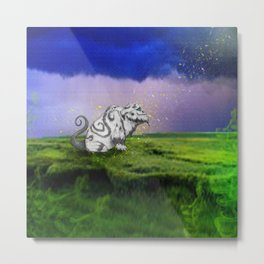 I Believe In Gruff Metal Print