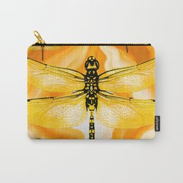 DRAGONFLY IN AGATE Carry-All Pouch