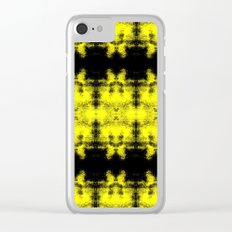 Yellow Black Diamond Gothic Pattern Clear iPhone Case