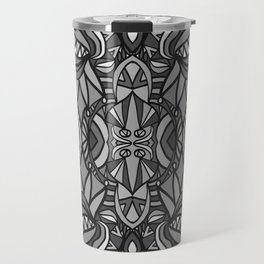 Roller Coaster Black and White Travel Mug