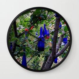 When Blue Bottles Fly Wall Clock