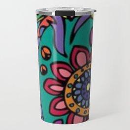 art colour crocodile new love hot 2018 pattern s6 flower Travel Mug