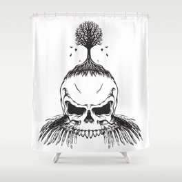 The Fall of Earth Shower Curtain