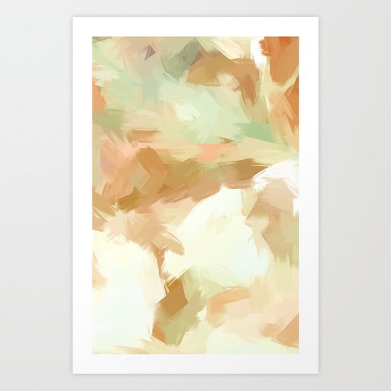 BLOSSOMS - COLORS III Art Print
