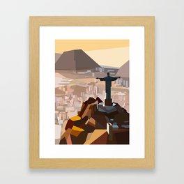 Geometric Christ the Redeemer, Brazil Framed Art Print