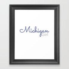 Michigan Girl Framed Art Print