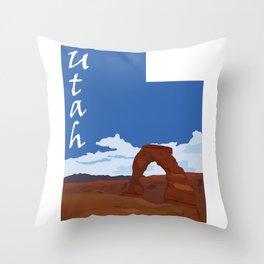 Utah: Delicate Arch Throw Pillow