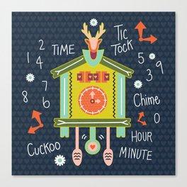 Tic Tock Cuckoo Clock Canvas Print